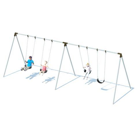 swinging bi 2 bay bi pod swing frame swing sets