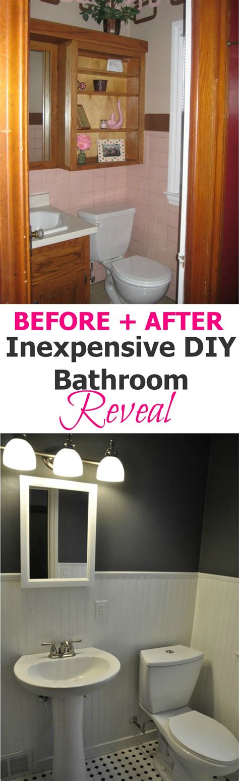 cheap bathroom makeover ideas pink bathroom makeover decor and the