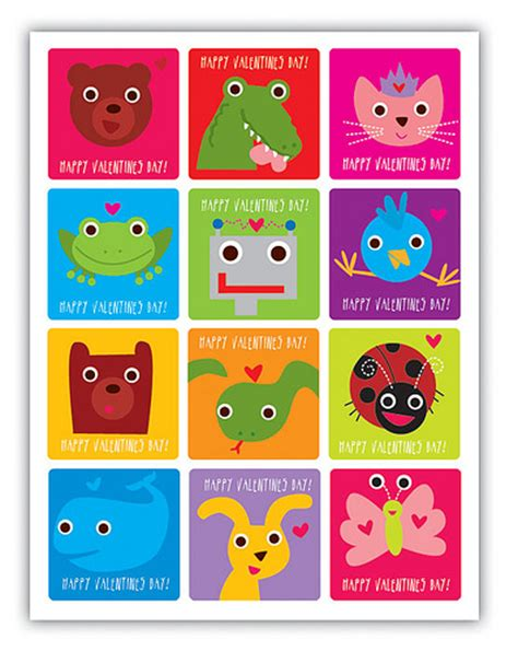 printable valentines day cards free free printable animal s day card free