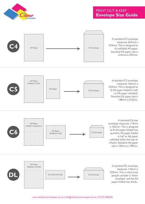 printable envelope guide envelope size guide c4 a4 c5 a5 c6 a6 dl