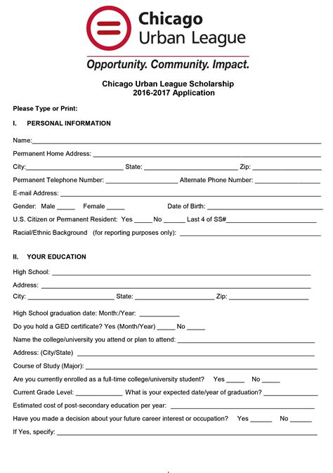 Center For Student Development Scholarships Youth Sports Scholarship Application Template