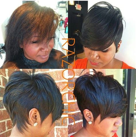 atlanta black unique hairstyles razor chic of atlanta hair flair pinterest razor