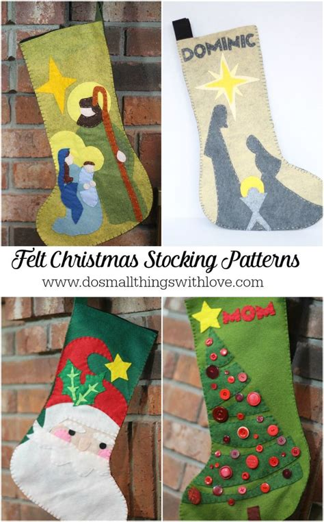 pattern for felt stocking 4 felt christmas stocking patterns from do small things