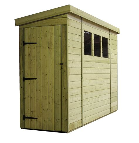 Shed With Side Door 14 X 3 Pressure Treated Tongue And Groove Pent Shed With 3