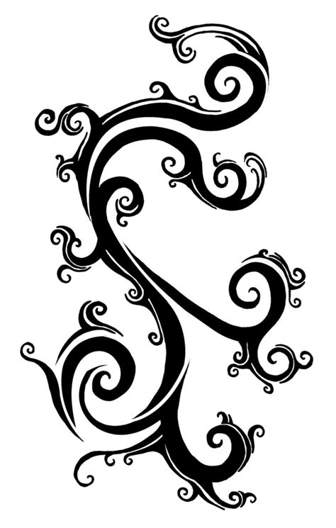 rose with vines tattoo designs vines drawings clipart best