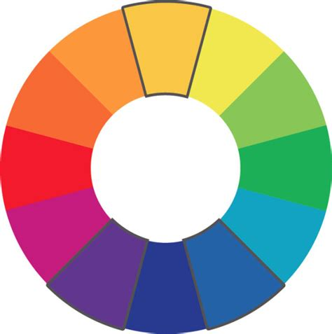 split complementary color scheme color theory for company branding