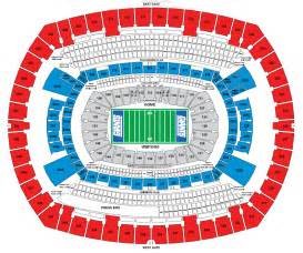 stadium seat map metlife stadium e rutherford nj seating chart view