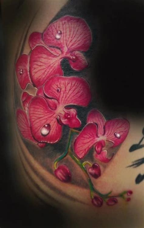 best orchid tattoo i ve ever seen dope