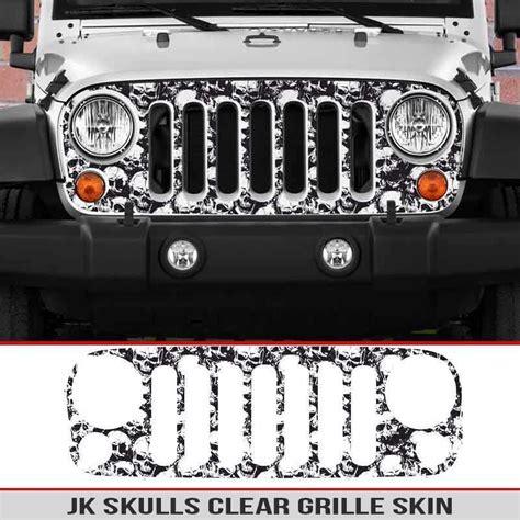 jeep grill skin jeep wrangler jk grille skin skulls alphavinyl