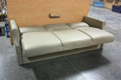 used rv sofa rv furniture used rv flexsteel tan vinyl jack knife