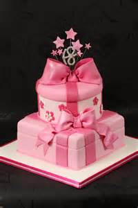 Pink parcel cake an 18th birthday cake for a girl who love