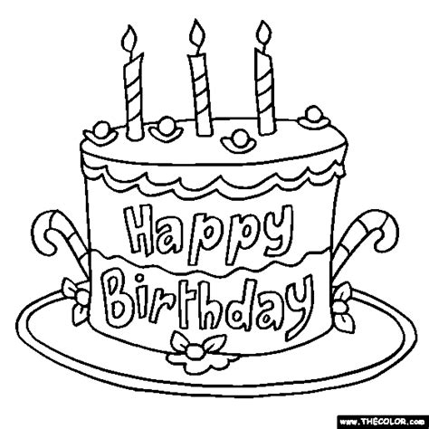 birthday  coloring pages page