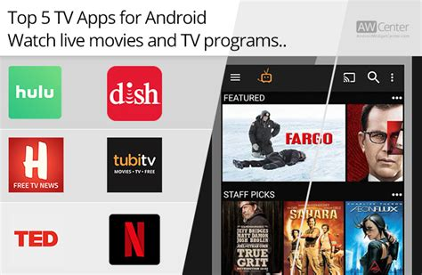 best apps for android tv top 5 tv apps for android live and tv programs
