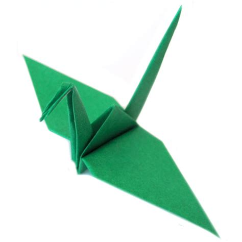 origami of crane paper origami crane green graceincrease custom origami