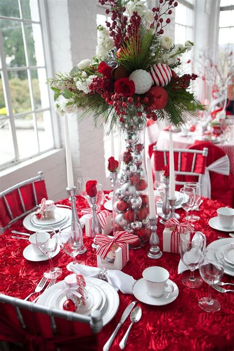 table decorations beautiful christmas table decoration ideas festival