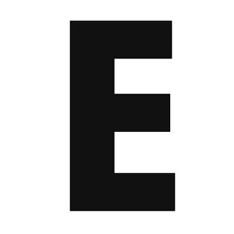 printable large capital letters solid capital e