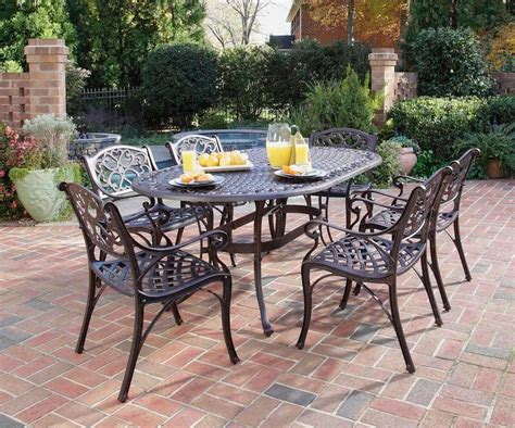 Home Styles Biscayne 7 Piece Cast Aluminum Outdoor Dining Outdoor Patio Dining Sets