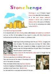 english teaching worksheets stonehenge