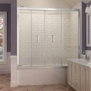 folding shower doors home depot dreamline butterfly 57 1 2 to 59 in x 58 in framed bi