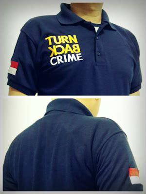 Kaos Interpol manisnya bisnis kaus polisi turn back crime jual kaos