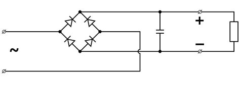 bridge rectifier smoothing capacitor value i am using a tda2822m circuit to lify the output of this circuit is two speaker