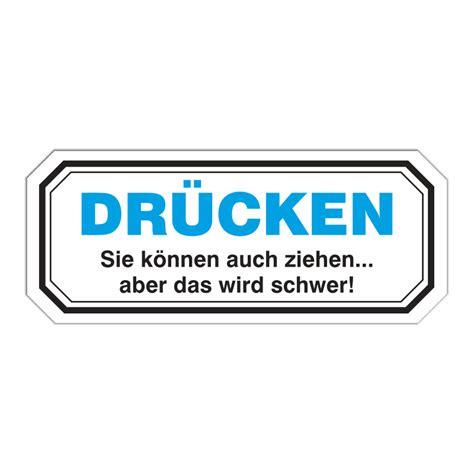 Aufkleber Dr Cken Ziehen by Wetterfester Aufkleber Dr 220 Cken 20 Cm T 252 R Schild Eingang