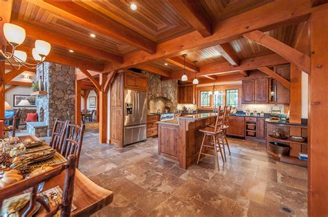 Log Cabin With Loft Floor Plans by Top 100 Rustic Kitchen Design Best Photo Gallery Of Interior