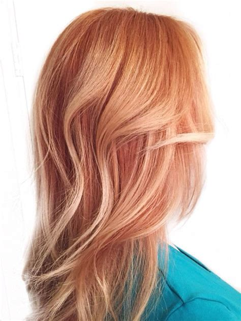 hair color red front blond back of head the front view and back view of this blonde balayage and