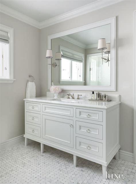 Traditional White Guest Bath Vanity   Luxe   Bath   Powder
