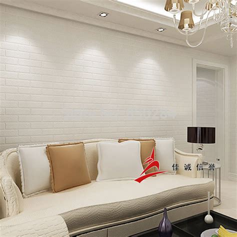 White Brick Wall Living Room by Modern 3d Brick Wall Paper For Living Room Bedroom White