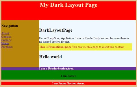 how to design layout in mvc 5 asp net mvc 5 renderbody renderpage and rendersection