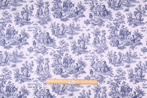 toile drapery fabric waverly rustic toile printed cotton drapery fabric in navy