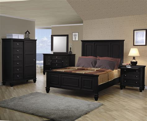 sandy beach bedroom set sandy beach black classic high headboard bedroom set