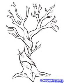 how to draw a tree dragoart how to draw a dead tree step by step trees pop culture