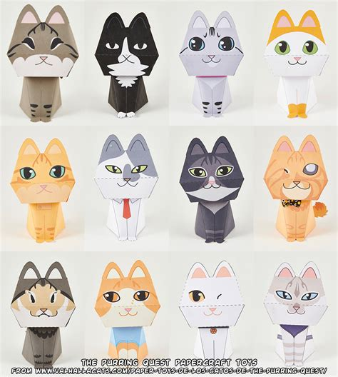 Papercraft Cats - ninjatoes papercraft weblog the purring quest papercraft