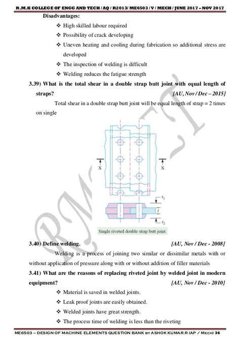 design of machine elements question bank with answers me6503 design of machine elements two marks questions