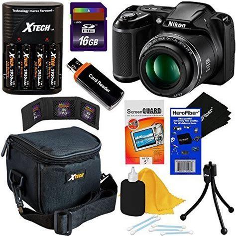 Kamera Nikon Coolpix L340 Plus Baterai Charger nikon coolpix l340 20 2 mp digital with 28x zoom