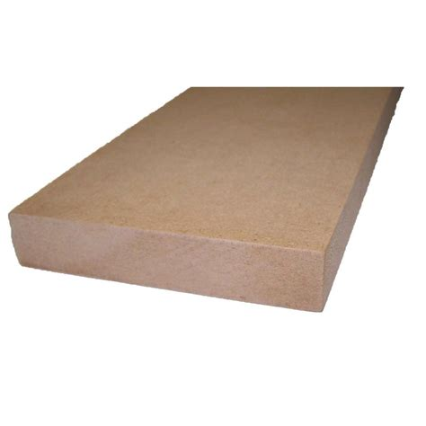 mdf home depot 11 16 in x 1 1 2 in x 8 ft ripped shelving mdf board 289087 the home depot