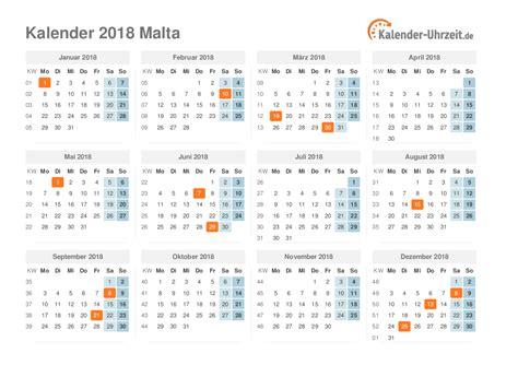 Malta Kalendar 2018 Feiertage 2018 Malta Kalender 220 Bersicht