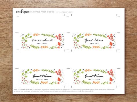 free place card templates uk 1000 ideas about place card template on