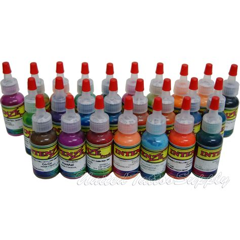 intenze tattoo ink sets 25 color intenze ink set 1 2oz