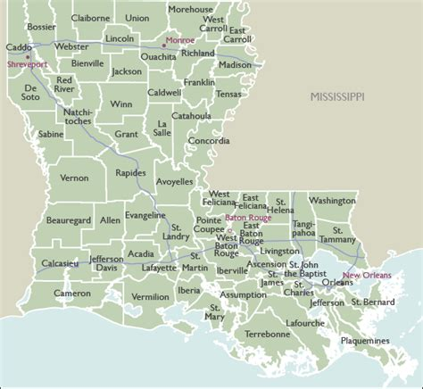 la zip code map county zip code maps of louisiana