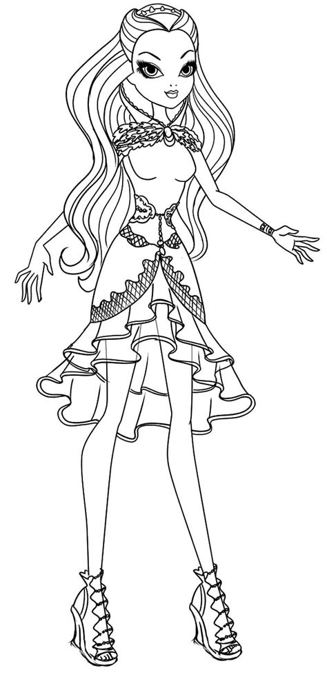 coloring pages ever after high raven queen beautiful raven queen ever after high coloring pages