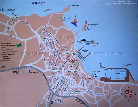 kusadasi map kusadasi turkey about interesting places