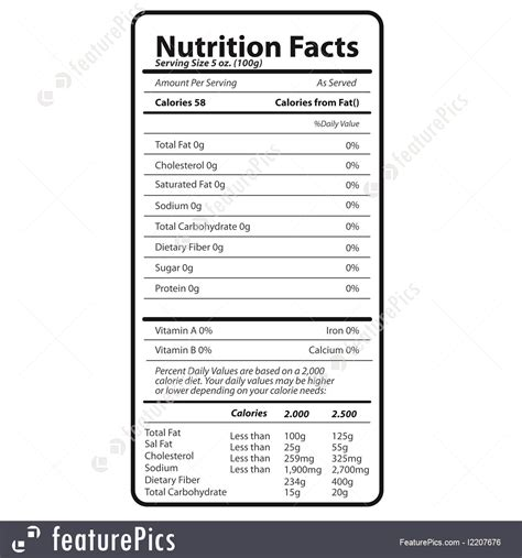 Nutrition Facts Illustration Birthday Nutrition Facts Label Template
