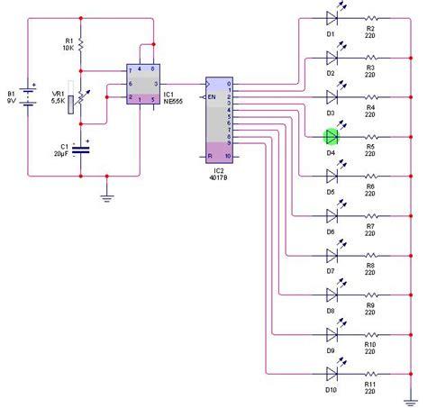 rangkaian dan layout running led electax blog rangkaian lu berjalan dengan ic decode