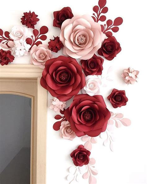 creative ideas paper flower wall decor clipgoo this pretty cool idea of decorating the wall with paper