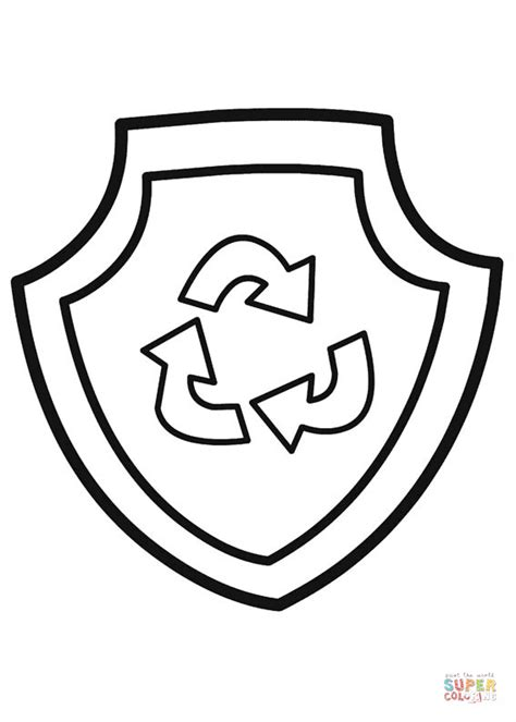 paw patrol shield coloring pages paw patrol rocky s badge coloring page free printable