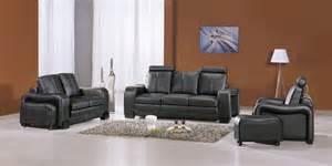 deco in ensemble canape cuir noir 3 2 1