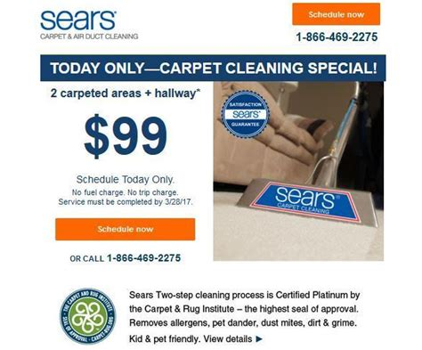 Sears Cleaning by Sears Carpet Cleaning Specials 28 Images Sears